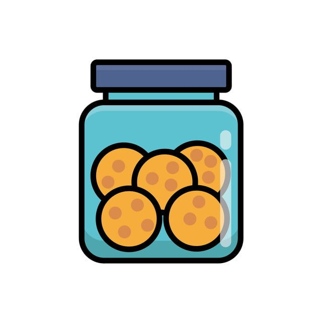 Cookies In Jar Vector Illustration Isolated On White Background Cookies Clip Art Cookie Clipart Cookie Jar Png And Vector With Transparent Background For Fre Clip Art Retro Vector Vector Illustration