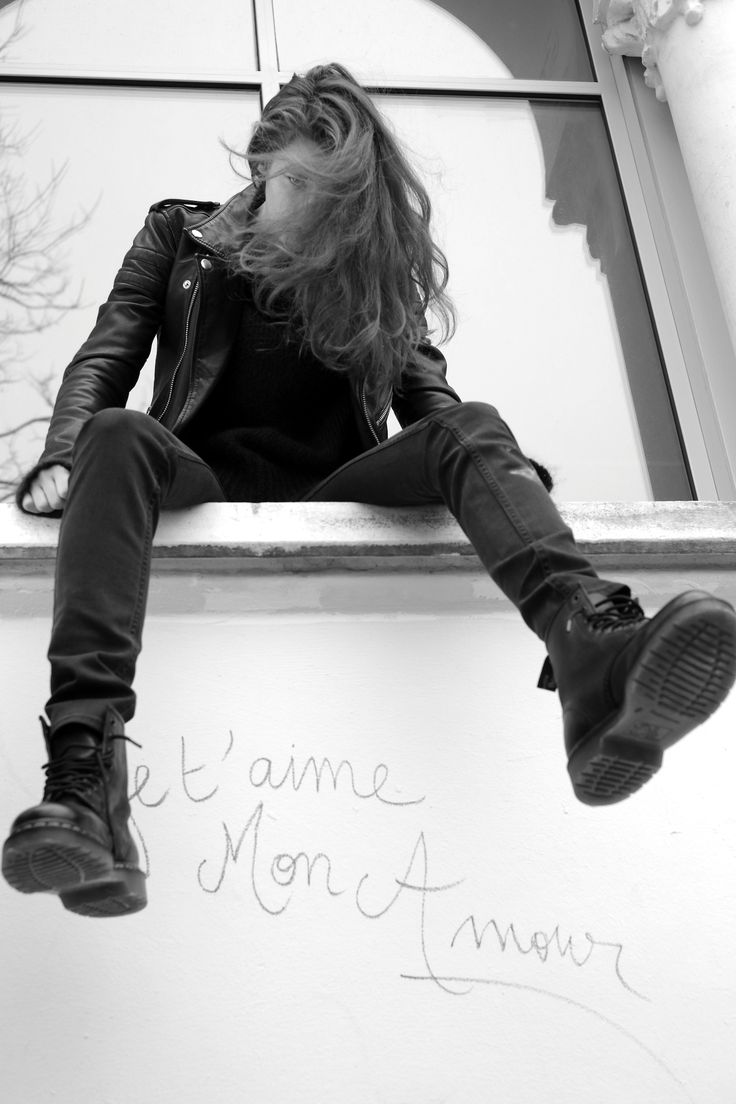 BLK DNM, A JOHAN LINDEBERG PROJECT    CAROLINE FARNEMAN IN BLK DNM F/W13, PHOTOGRAPHED BY JOHAN IN PARIS.     LEATHER JACKET 8.