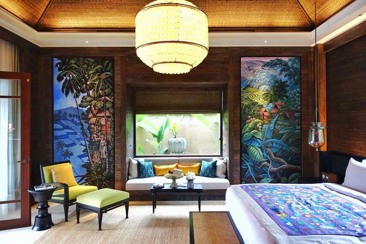 The villa bedroom at Mandapa. Architect #MilesHumphreysArchitect