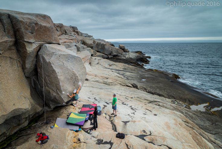 Climbing | Philip Quade: Ocean-side bouldering on Dover Island, off the coast of Peggys Cove, Nova Scotia.