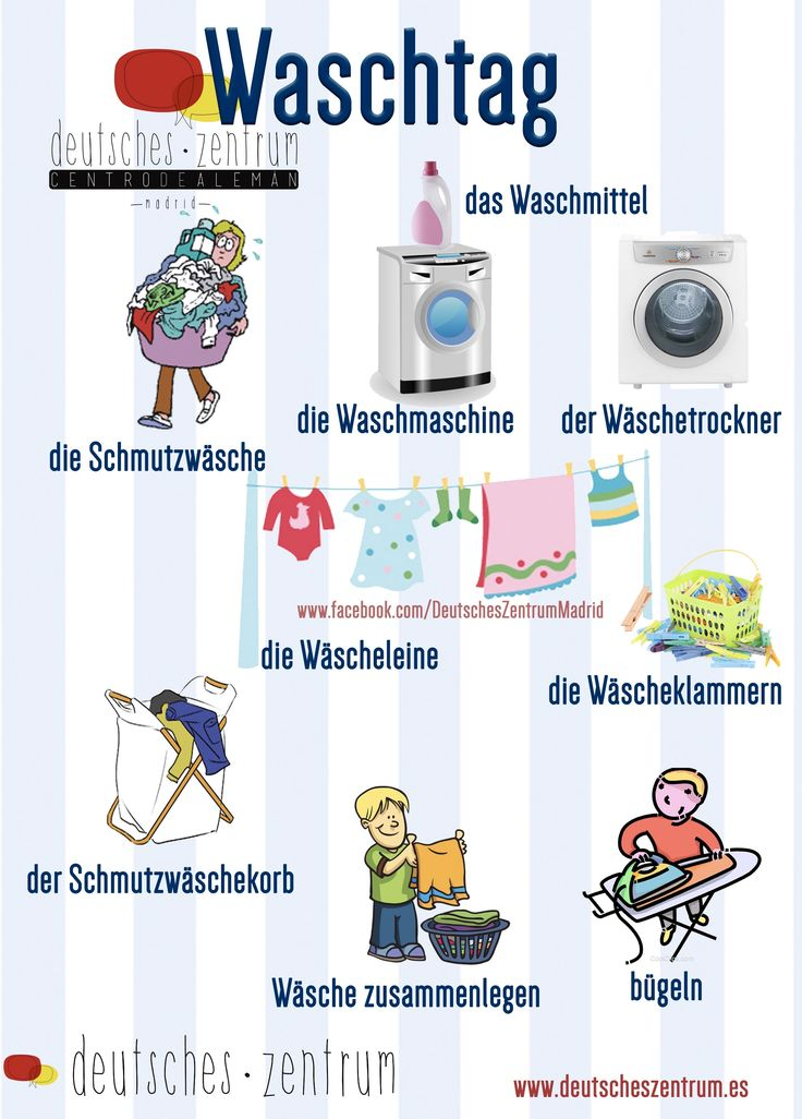 German vocabulary - Waschtag / Washday