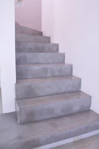Polierter Beton auf der Treppe Mehr Infos unter www.farbefreudeleben.de