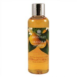 Bronnley Orange and Jasmine Bath and Shower Gel 3.5oz shower gel by Bronnley. $6.00. Please read all label information on delivery.. 3.5oz shower gel. Country of origin: England. The fresh scent of orange & jasmine combines the cleansing properties of citrus fruit with natural essential oils to create this fragrant collection of luxury home spa therapies. This fragrantly refreshing orange & jasmine Body Wash is enriched with moisturising chamomile & orange extract to h...