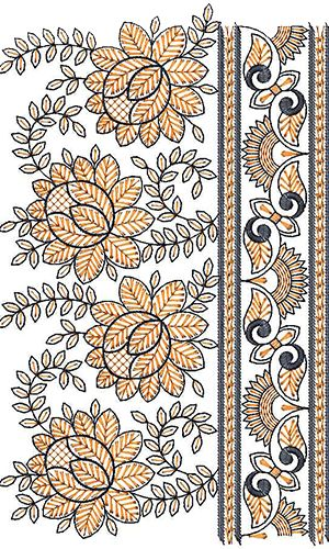 Beatifull Lace Border Embroidery Design