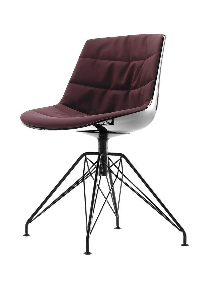 Sedia girevole imbottita su trespolo FLOW CHAIR Collezione Flow by MDF Italia design Jean-Marie Massaud