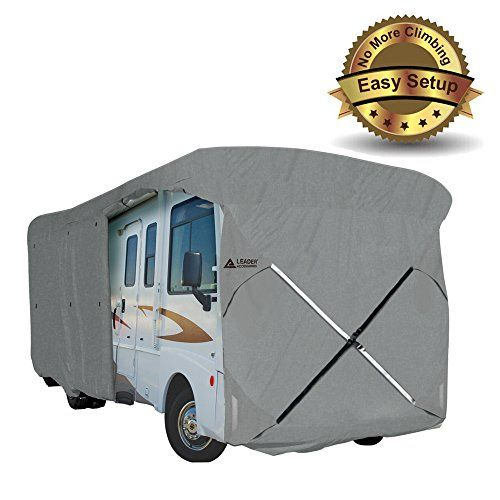 New Easy Setup Class A Motorhome Cover Fits RV W Assist Steel Pole (28'-30')