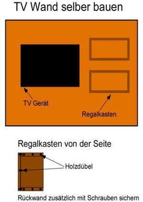 Anleitung mit Bauplan: TV Wand selber bauen