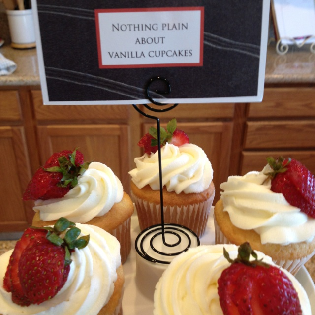 """Fifty Shades of Grey themed party.  """"Nothing Plain About Vanilla"""" Cupcakes"""