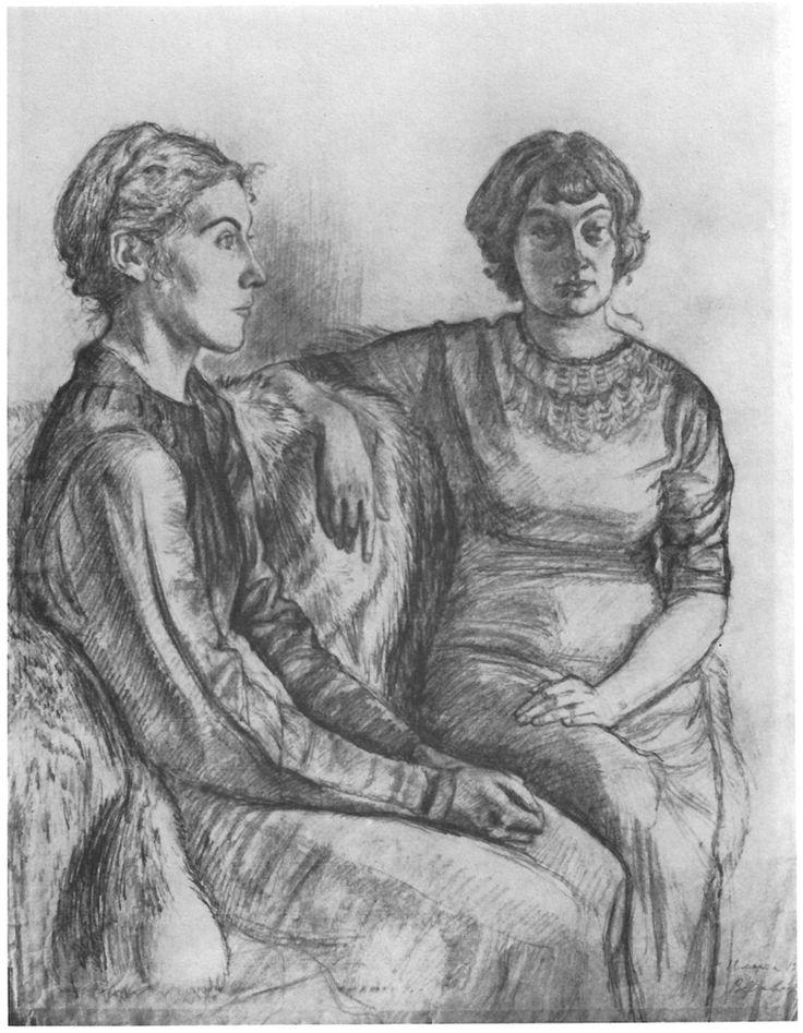 Tatiana Kozulina and Tamara Eiges. 1938. Pencil