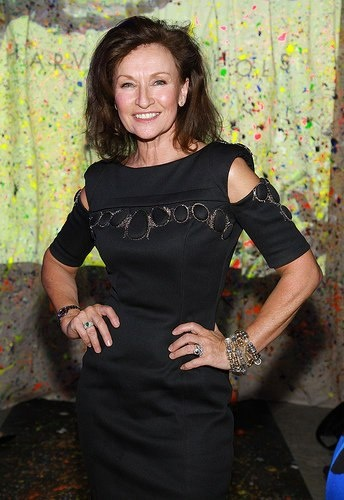 STYLIST CELIA HOLMAN LEE IN #JOANNEHYNES BASALT DRESS AT THE HARVEY NICHOLS SPRING SUMMER 2010 FASHION SHOW.  SEE MORE AT:http://www.joannehynes.com/blog/