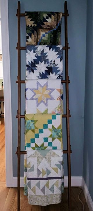 67 best Quilt Displays images on Pinterest | Quilt display, Quilt ... : quilt display ladder - Adamdwight.com