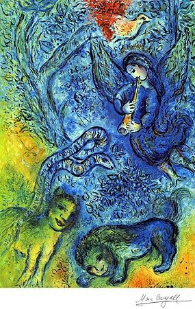 """magic flute"" by Marc Chagall.  #art #artists #chagall"