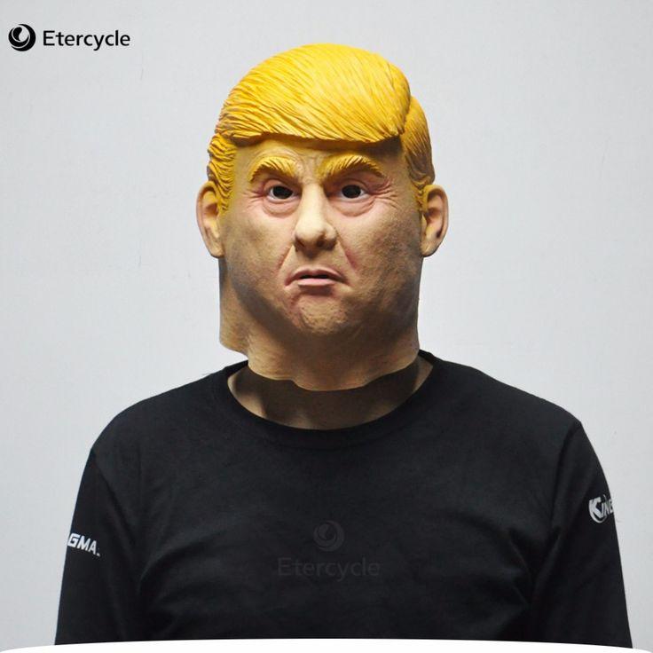 Donald Trump Masks Hillary Clinton Latex Mask Halloween Presidential Cosplay Prop