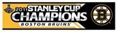 Boston Bruins 2011 NHL Stanley Cup Champions 3x12 Bumper Sticker by WinCraft. $2.19. Officially licensed Boston Bruins 2011 NHL Stanley Cup Champions bumper strips. Decal strips can be placed on a variety of surfaces, not just a bumper, with their self-adhesive back. Measures 3 x 12 inches. Made in USA.