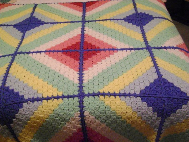119 best CROCHET - CORNER TO CORNER images on Pinterest | Kinder ... : crochet quilt block patterns - Adamdwight.com