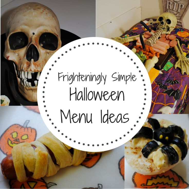 Simple Halloween menu ideas.