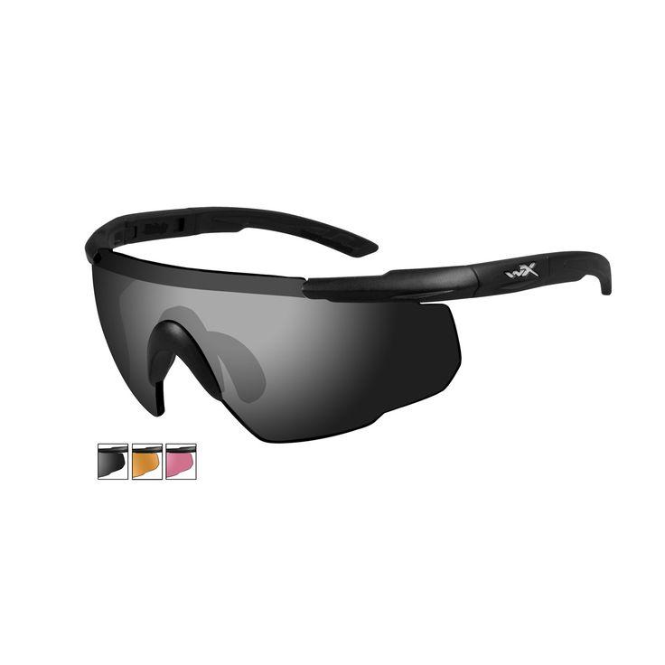 Военные стрелковые очки Wiley X Saber Advanced 309 с дымчато-серой и светло-оранжевой и ярко-красной линзами