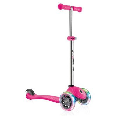 Globber Evo 4-in-1 Convertible Light Up 3 Wheel Scooter - Pink