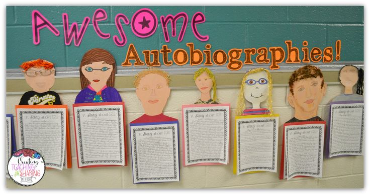 How to write an autobiography and a crafty idea to decorate your hallway!