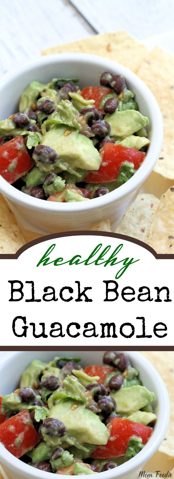 This healthy Black Bean Guacamole is a super quick way to prepare a light vegan lunch, just add a few chips. It is also a great topping for meats, grilled veggies, veggie burgers or tex-mex meals. Plenty of unsaturated fat & fiber to keep you full throughout the day.