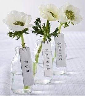Idée de marque place/déco florale