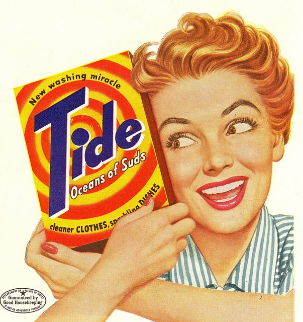 Tide - the new washing miracle! #vintage #laundry #ads #1950s