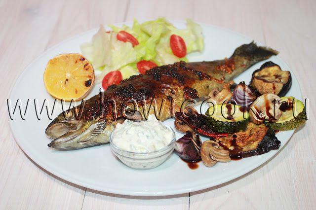 HowICook: Форель с овощами-гриль и соусом тартар
