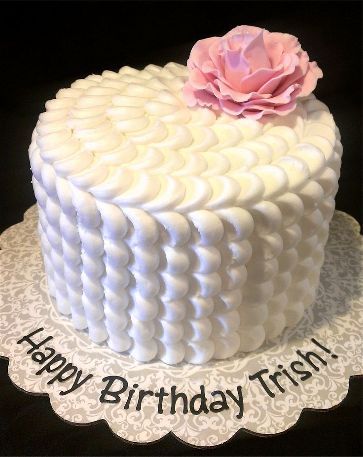 Pink Rose Petal Cake.  - Pink Rose Petal birthday cake. Pink Champagne cake with raspberry cream cheese mousse filling. Happy Birthday Trish!