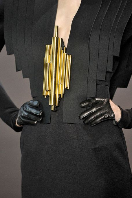 Of the period, not from the period. Stephane Rolland haute couture f11 - a modern take on the devant de corsage!