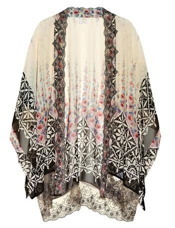 Espectacular kimono de flores de Anna Sui.
