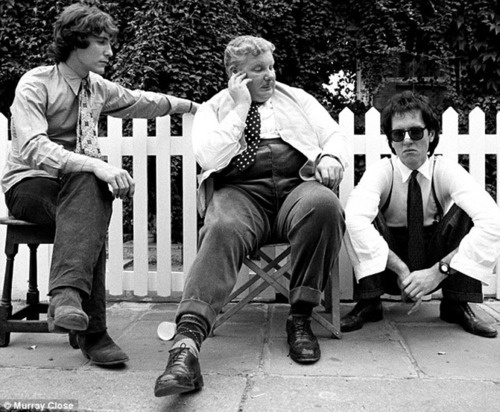 Marwood, Uncle Monty & Withnail on set. // RIP Richard Griffiths