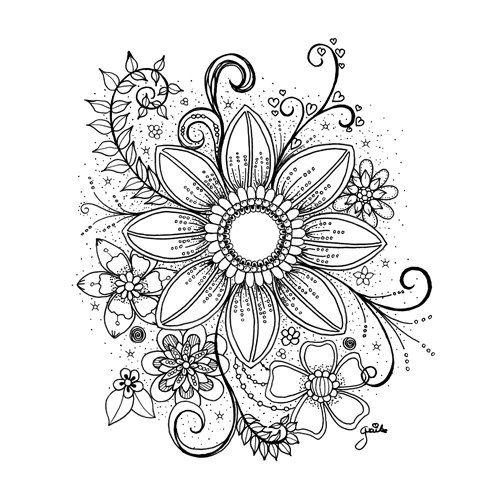 Ich Biete Einen Rabatt An Love Coloring Pages Mandala Tattoo Design Easy Flower Drawings