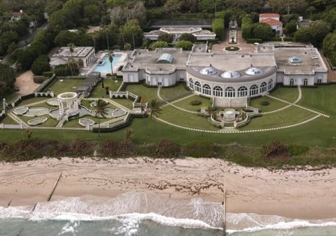 Maison de L'Amitie, Palm Beach, Florida  Owner: Dmitry Rybolovlev, worth $9.5 billion  List Price: $125 million Final Purchase Price: $95 million   The sprawling oceanfront 60,000-square foot compound, bought from Donald Trump in 2008, includes diamond and gold fixtures and a nearly 50 car garage