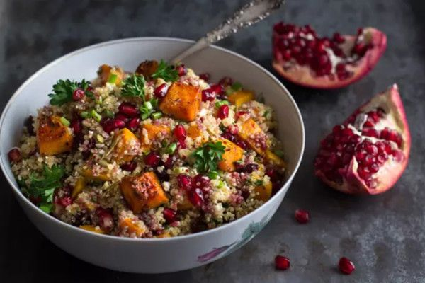Roasted Butternut Squash Quinoa Salad - Vegetarian Thanksgiving Dishes That Even Meat-Eaters Will Love - Photos
