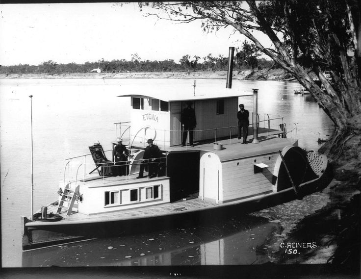 Today's trip down memory lane takes us to the PS Etona, circa 1900's.Originally built as a mission boat for the River Murray Church of England until 1912. #throwbackthursday #paddlesteamerhistory