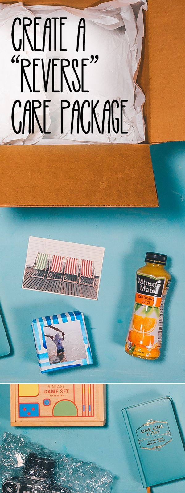 "Looking for a way to tell your parents they're #doingood? A ""Reverse"" Care Package is a fun and unexpected surprise. Find inspiration for yours on our blog."