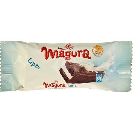 Prajitura cu crema de lapte si glazura de cacao 35g Magura