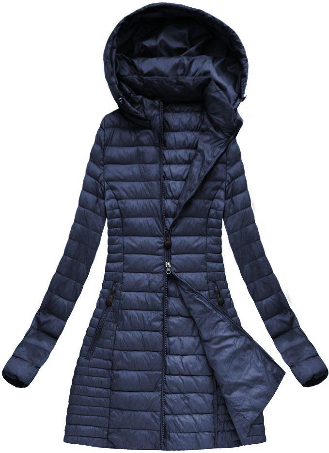 Dlhá prechodná bunda modrá xb7127x