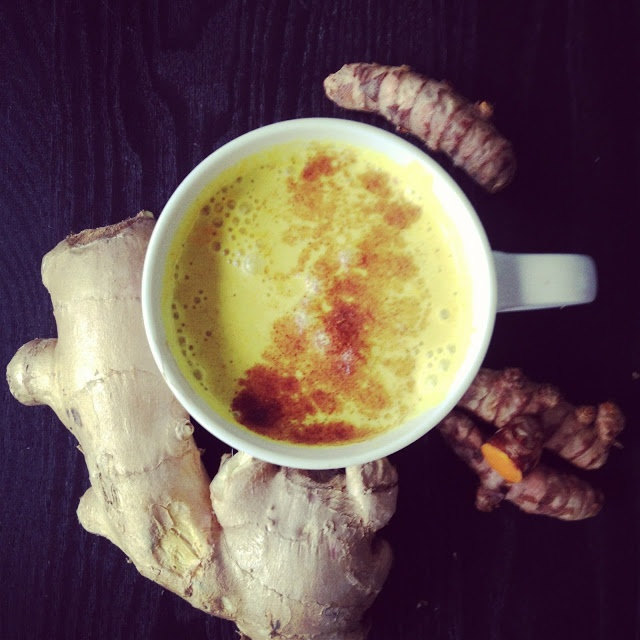 Turmeric ginger smoothie, killer anti-inflammatory breakfast.
