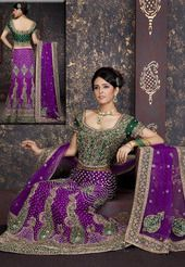 Soothing Purple Raw Silk Lehenga Choli with Dupatta
