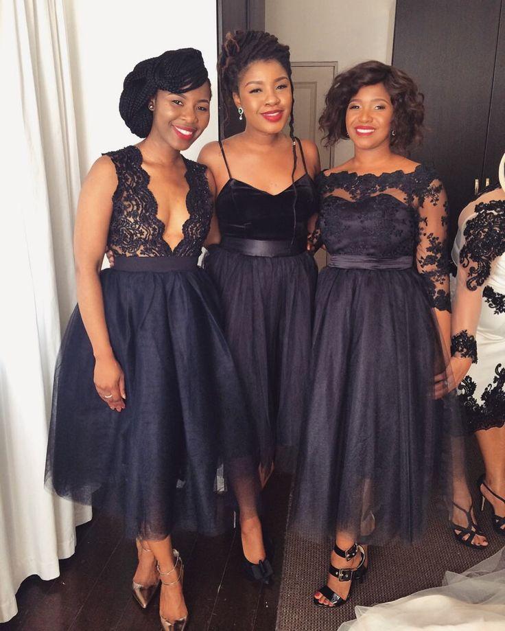 "99 Likes, 19 Comments - Glamazon Beauty Boutique (@glamazon_bynodi) on Instagram: ""Black is Beautiful 😍 #bridesmaids #hairbynodi #bridalhairstylist"""