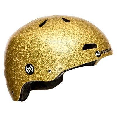 Punisher Skateboards Pro 13-Vent Dual Safety Bmx Bike and Skateboard Helmet - Gold (Medium), Bright Gold