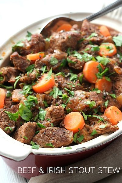 This Beef and Irish Stout Stew will be the first thing I make when it gets cooler this Fall. From Edible Ireland