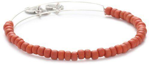 "Alex and Ani ""Collegiate"" Burnt Orange Sea Bead Expandable Shiny Silver Wire Bangle Bracelet Alex and Ani. $28.00. Made in US"