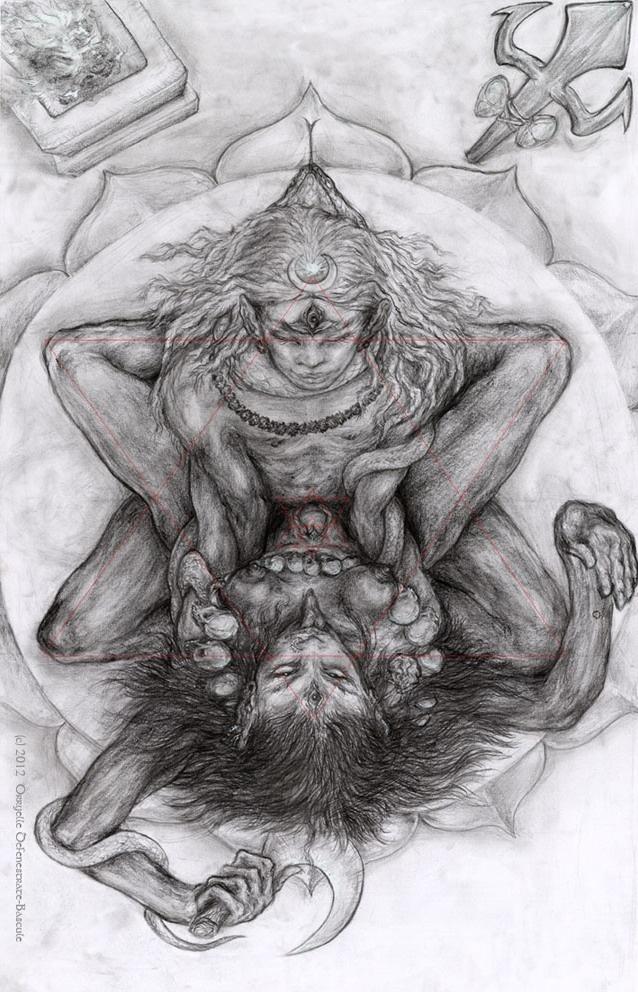 Tantric Union - Shiva ~ Shakti (art by Orryelle Defenestrate-Bascule)