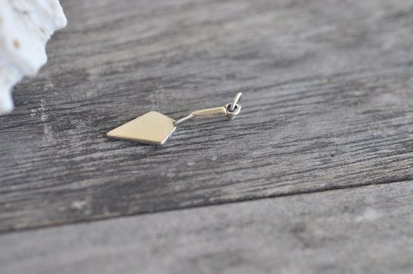 Hand Trowel Charm Sterling Silver Tool Flat Trowels Solid .925 Made in USA by Pearlwearbeads on Etsy