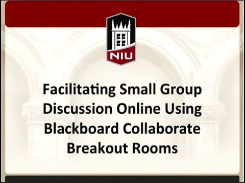 Facilitating Small Group Discussion Online Using Blackboard Collaborate Breakout Rooms