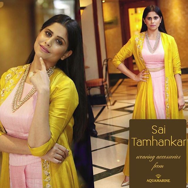 Sai Tamhankar looks beautiful wearing accessories from Aquamarine. Styled by Neha Chaudhary. #aquamarine_jewellery  #gorgeous #accessories #fashion #stunning #bollywood #bollywoodstyle #bollywoodfashion #celebstyle #celebpost #colaba #lokhandwala #mumbai #india #aquamarinedelhi #16khanmarket #khanmarket16 #aquamarinejewellery