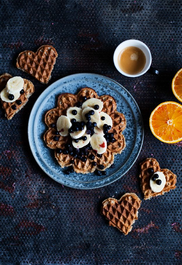 Whole grain banana bread waffles