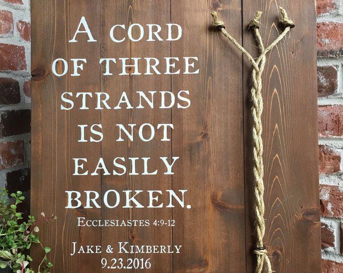 A Cord Of Three Strands Ecclesiastes 4 9 12 Medium Stain